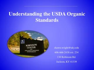 Understanding the USDA Organic Standards