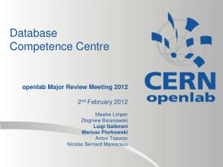 Database Competence Centre