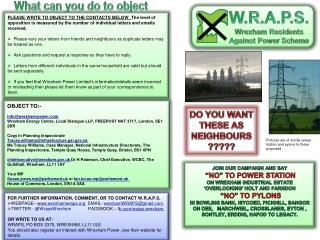 W.R.A.P.S. Wrexham Residents Against  Power  Scheme