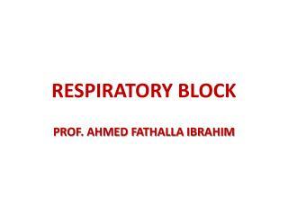 RESPIRATORY BLOCK