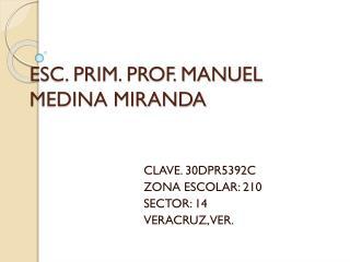 ESC. PRIM. PROF. MANUEL MEDINA MIRANDA