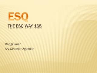 ESQ The ESQ Way 165