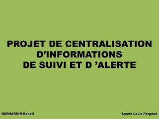BERNARDIN Benoît         Lycée Louis Pergaud