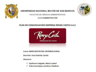 ¿Qué es Renzo Costa S.A.C?