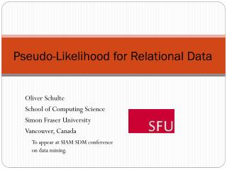 Pseudo-Likelihood for Relational Data