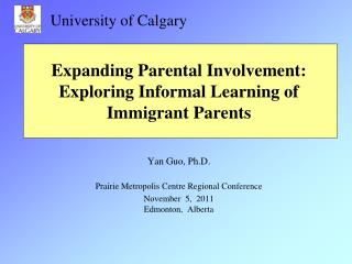 Expanding Parental Involvement: Exploring Informal Learning of Immigrant Parents