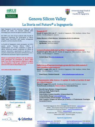 Genova Silicon Valley La Storia nel Futuro � a Ingegneria