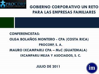 GOBIERNO CORPORATIVO UN RETO PARA LAS EMPRESAS FAMILIARES