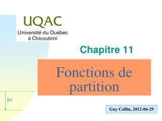 Fonctions de partition