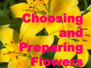 Choosing and Preparing Flowers