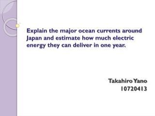 Takahiro Yano 10720413