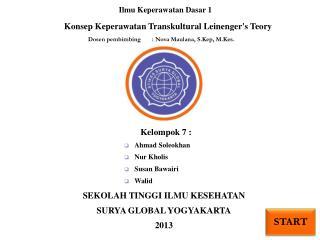 Konsep Keperawatan Transkultural Leinenger's Teory