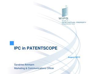 IPC in PATENTSCOPE