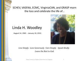 SCHEV, VASFAA, ECMC, VirginiaCAN, and GRASP morn  the loss and celebrate the life of…