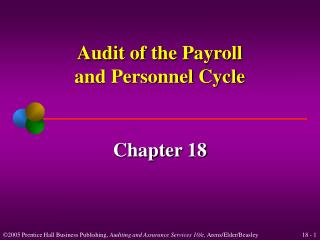 Audit of the Payroll and Personnel Cycle