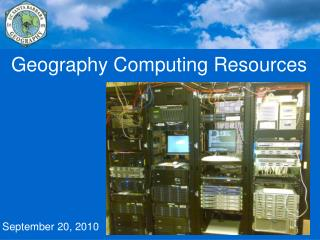 Geography Computing Resources September 20