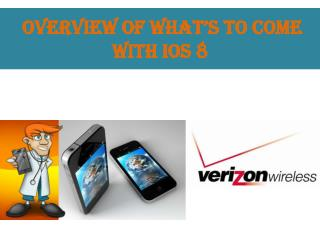 Overview of what�s to come with IOS 8