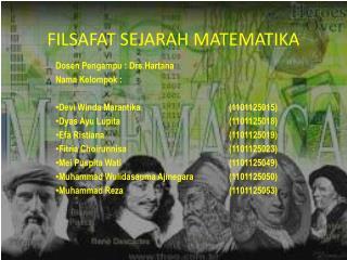 FILSAFAT SEJARAH MATEMATIKA
