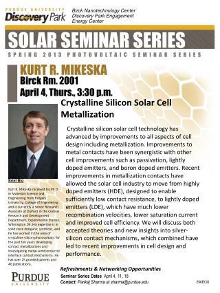Solar  Seminar Series