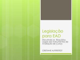 Legislação para EAD