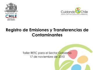 Registro de Emisiones y Transferencias de Contaminantes