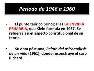 Período de 1946 a 1960