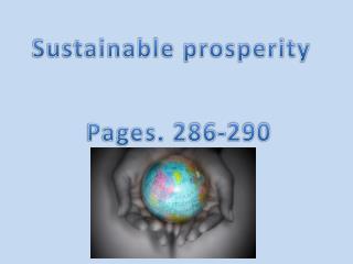 Sustainable prosperity