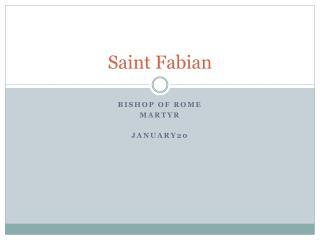 Saint Fabian