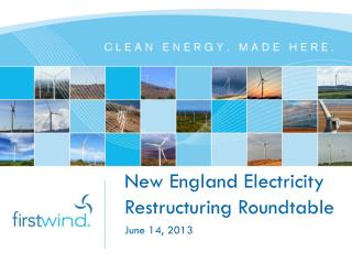 New England Electricity Restructuring Roundtable