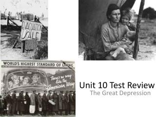 Unit 10 Test Review