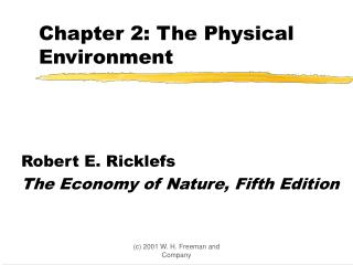 Chapter 2: The Physical Environment