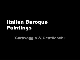Italian Baroque Paintings