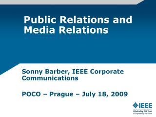 Public Relations and Media Relations