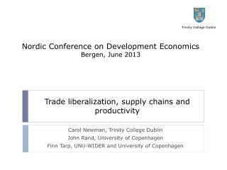 Nordic Conference on Development Economics Bergen, June 2013