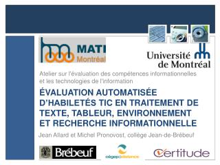 Atelier  sur l'évaluation des compétences informationnelles et les technologies de  l'information