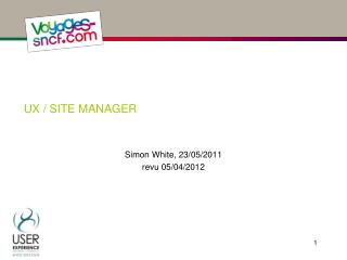 UX / site manager