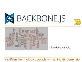 -  Sandeep Kamble