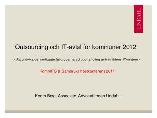 Outsourcing och IT-avtal för kommuner 2012