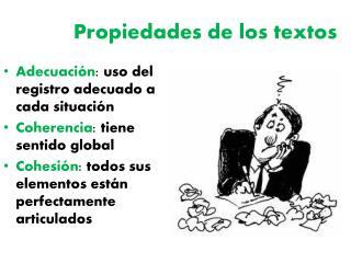 Propiedades de los textos