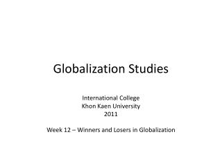 Globalization Studies