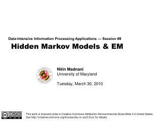 Hidden Markov Models & EM