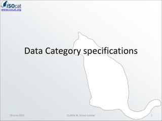 Data Category specifications