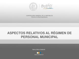 CONTRALORÍA GENERAL DE LA REPÚBLICA División de Municipalidades