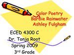 Color Poetry Barbie Rainwater Ashley Fulgham