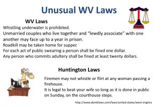 Unusual WV Laws