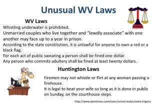 Unusual WV Laws