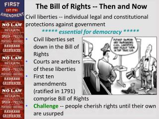 The Bill of Rights -- Then and Now