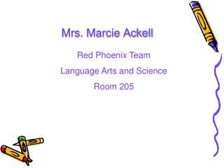 Mrs. Marcie Ackell