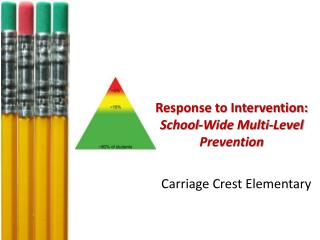 Response to Intervention:  School-Wide Multi-Level  Prevention