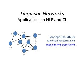 Linguistic Networks Applications in NLP and CL